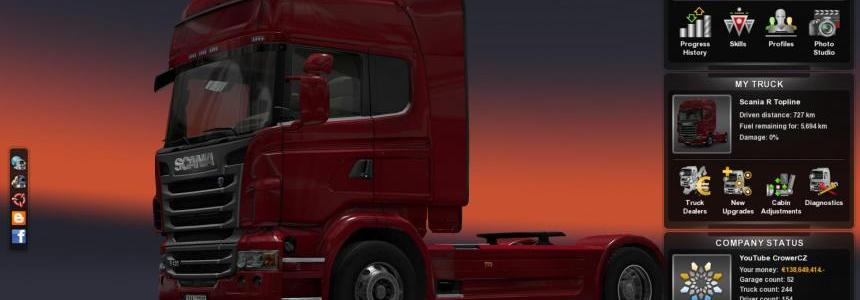 Save Game (300 Trucks, 300 milion €) + Free Cam v1.6