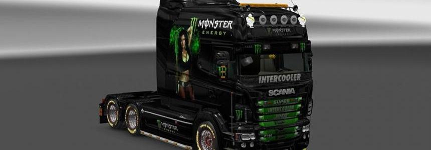 Scania RJL EXC Monster Energy Skin