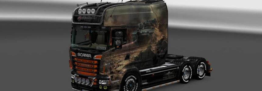 Scania RS EXC Longline WoT Skin 1.18