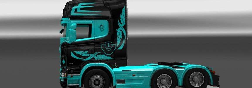 Tron Skin for Scania RJL v1.0