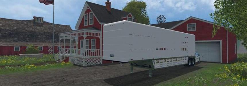 US Old Cattle Trailer v1