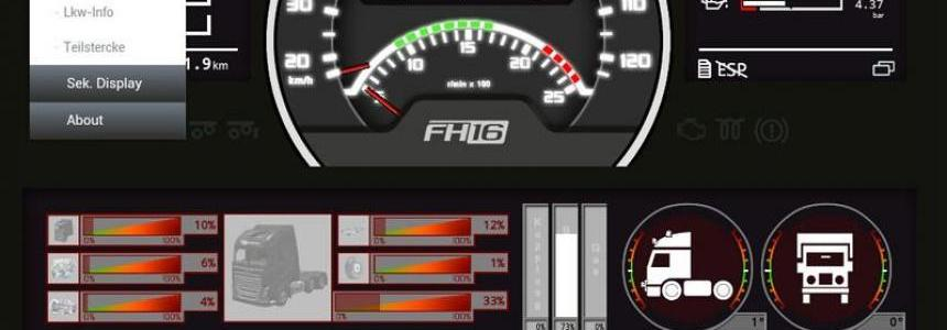 Volvo FH16 dashboard v0.3.8 Beta