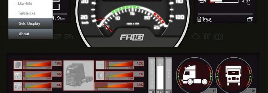 Volvo FH16 dashboard v0.3.8 Beta