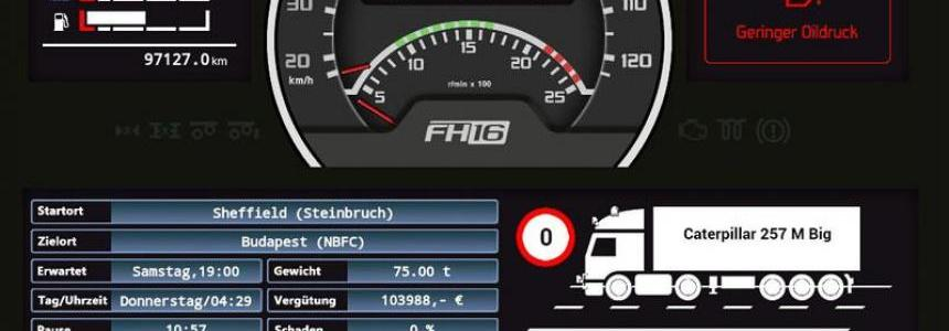 Volvo FH16 dashboard v0.4.5 Beta