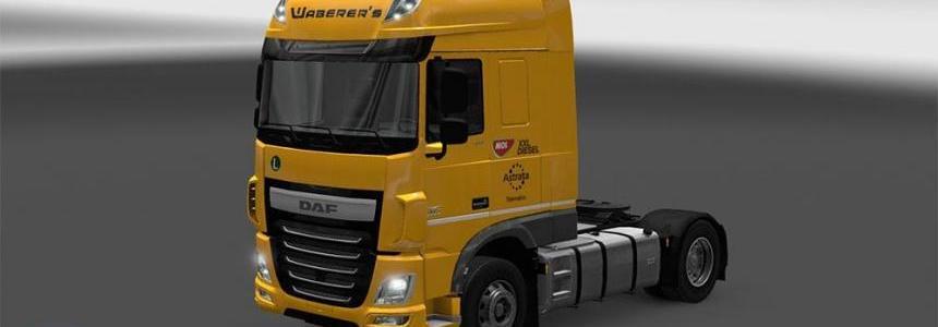 Waberer's DAF XF Euro 6 Skin Pack v2.0