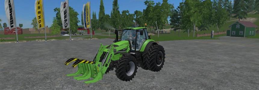 Deutz Fahr 7250 TTV Dual Wheel WIth Front Loader V1