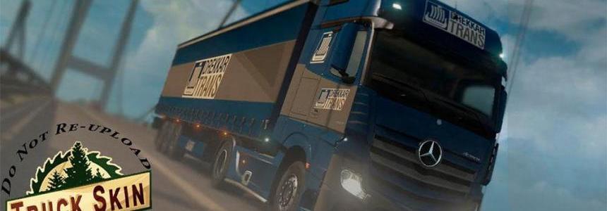 Drekkar Trans Mercedes Actros 2014 Truck Skin