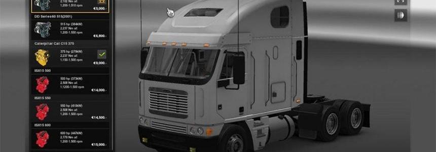 Freightliner Argosy Engine + Sound pack
