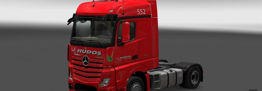 HUDOS s.r.o. company skin for MB ACTROS MPIV