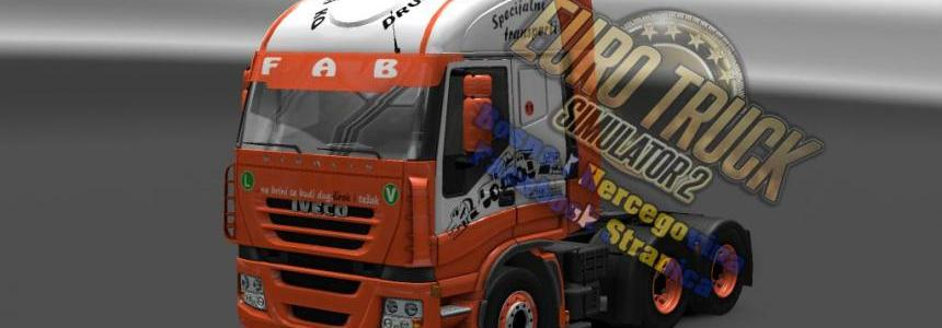 Iveco Strails FAB Orange-White Skin