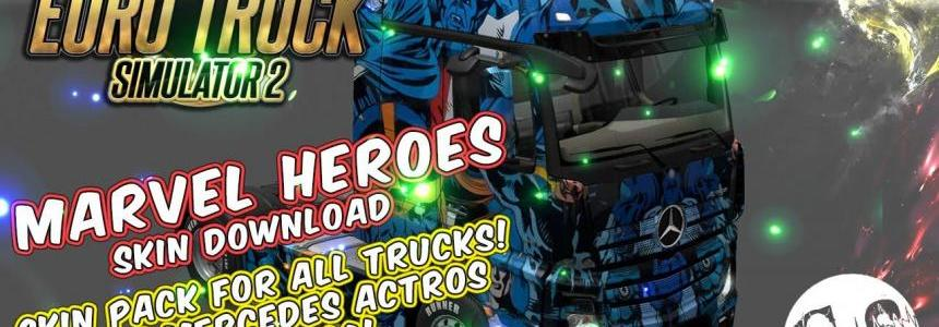 Marvel Heroes Skin Pack for All Trucks