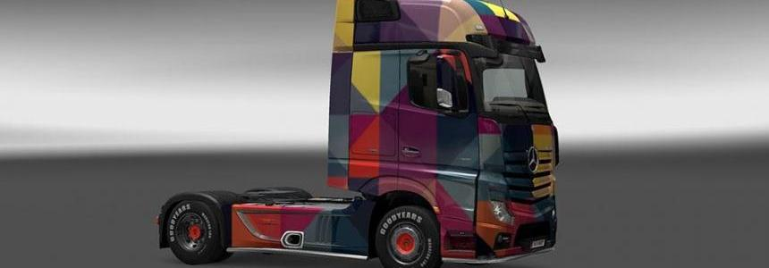 Mercedes Benz Actros MP4 Rengarenk Skin