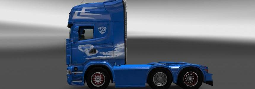 Scania RJL Love is in the air skin v1.0