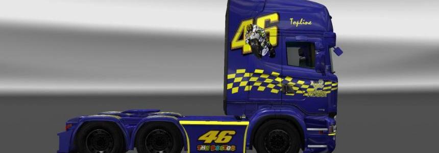 Scania RJL Valentino Rossi skin v1.0
