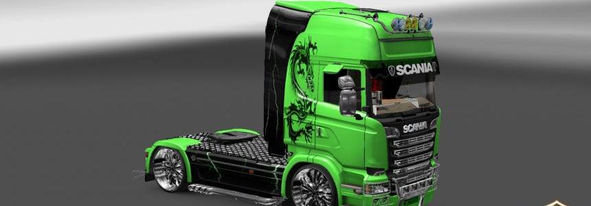 Scania Streamline Green Dragon Skin update