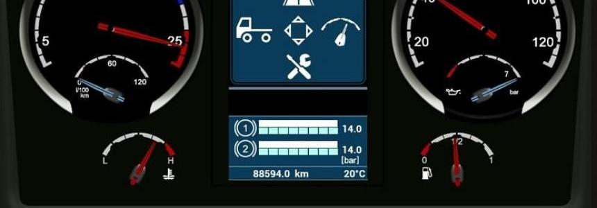 Scania Streamline V8 Dashboard v0.3.0 Beta