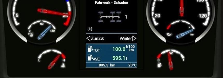 Scania Streamline V8 Dashboard v4.0.0 Beta