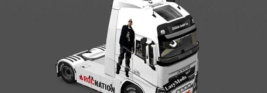 Volvo FH 2013 Beyonce and Jay Z Skin