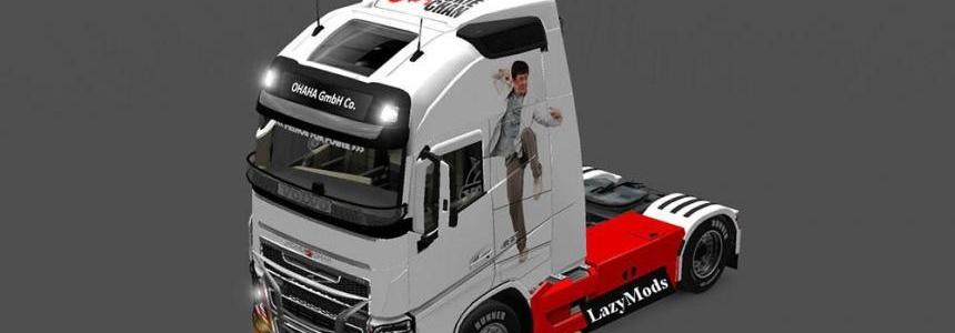 Volvo FH 2013 Jackie Chan Skin for Volvo 2013