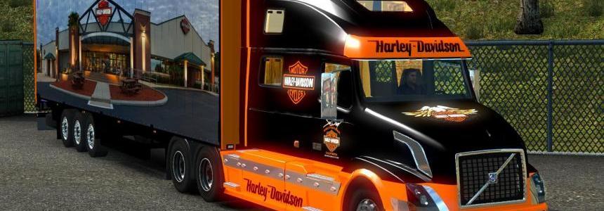 Volvo VNL 780 Harley Davidson + 17 trailer 1.18