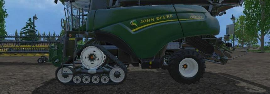 2 John Deere newHollandCR1090 John Deere Superflex Draper 45ft Header v1