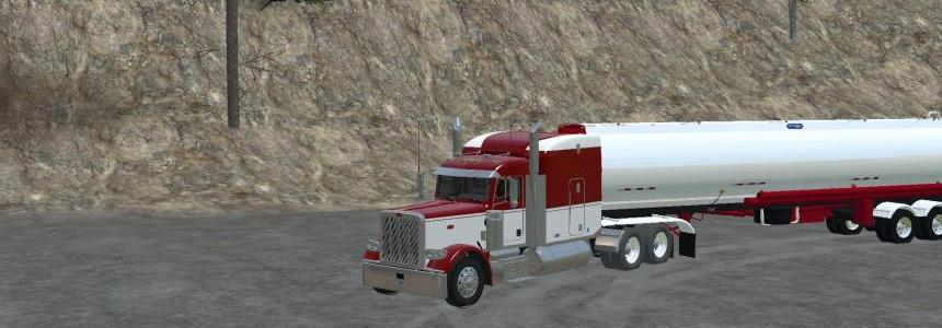 Peterbilt 388 Red/White v1