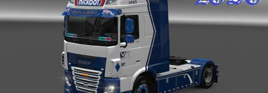 DAF XF Euro 6 (Ohaha) Nickoot Internationale Koeltransporten Skin