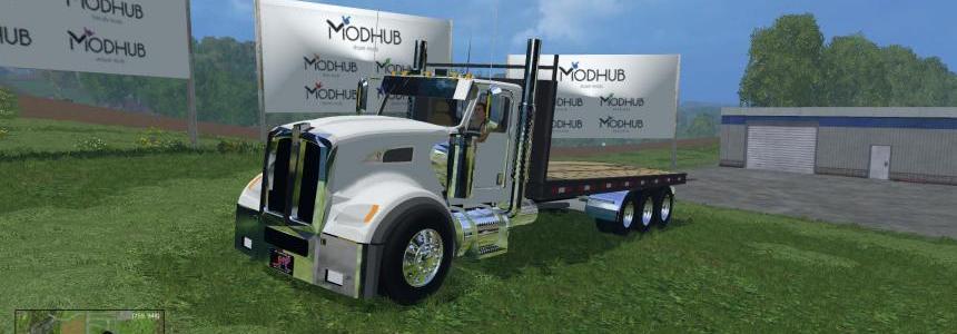 Kenworth Flatbed Bale Truck v1