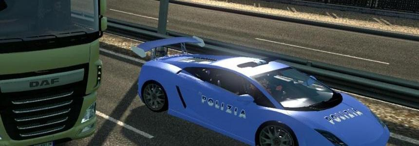 Italian Police Car Skin Lamborghini Gallardo LP560