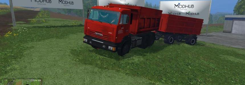 KamAZ 65115 and NEFAZ 8460 v1.0
