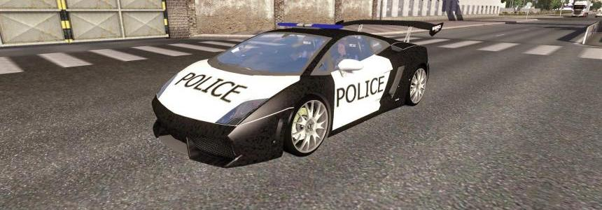 Lamborghini Police AI Traffic Car for 1.19.x