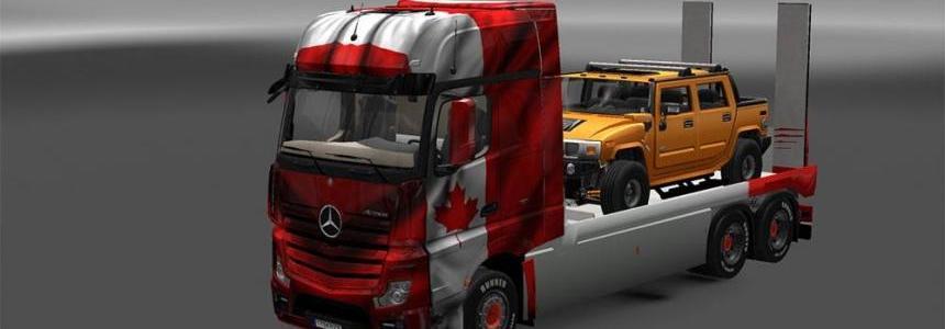 Mercedes Actros MP4 Flatbed + Trailer V2
