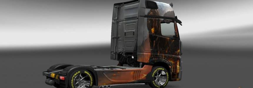 Mercedes Actros MP4 Volcano Tiger Skin