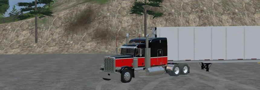 Peterbilt 388 Black/Red v1