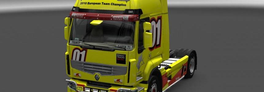 Renault Premium Racing Yellow Skin