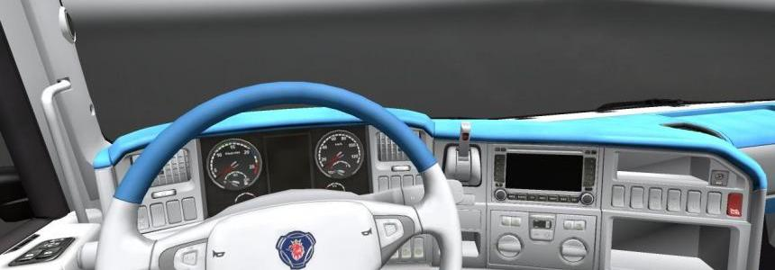 Scania Blue and white interior 1.19