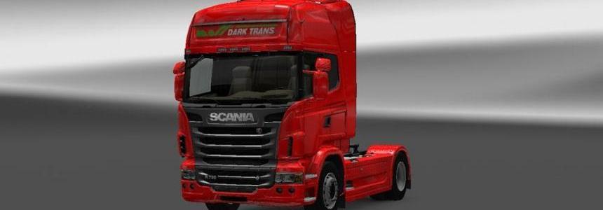 Scania R Dark Trans Skin