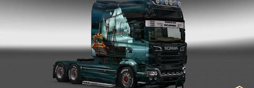 Scania RJL Longline Ship Skin v2