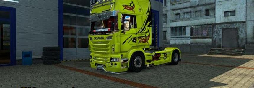 Scania Yellow Shark Skin