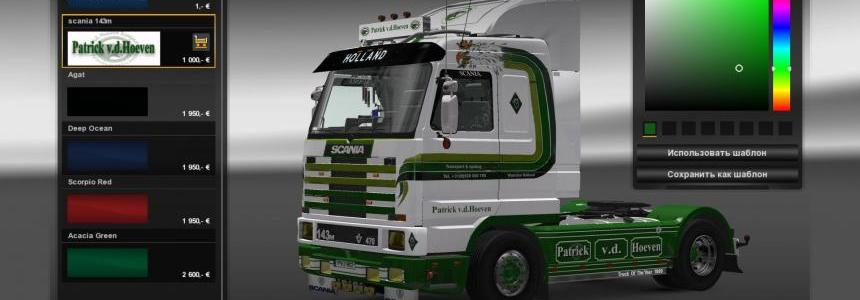 Skin-pack Patrick v.d. Hoeven for Scania 143M by Ekualizer