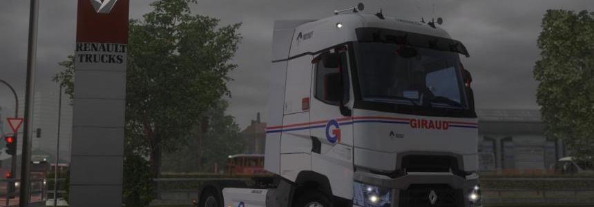 Skin Renault Range T Transports GIRAUD HD truck model et Range 1.2