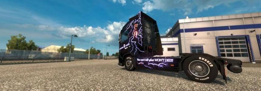 Volvo FH 12 Undertaker Paint Job v1.0