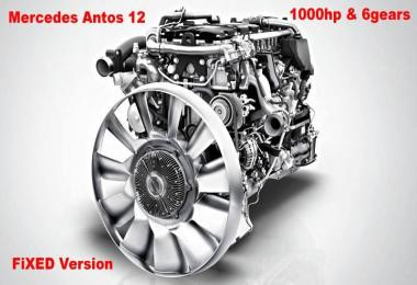 Mercedes Antos 12 1000 hp + 6 gears Fixed