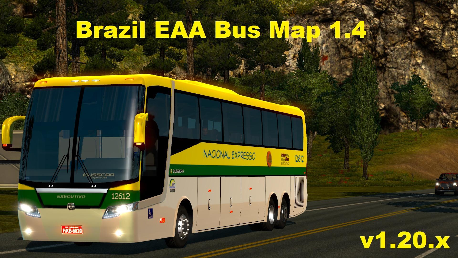 Eaa bus pack v1 6 mod euro truck simulator 2 mods - Brazil Eaa Bus Map 1 4 1 20 Modhub Us