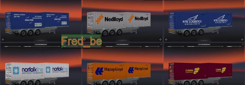 Trailer Pack Container 20ft X2 V1.20