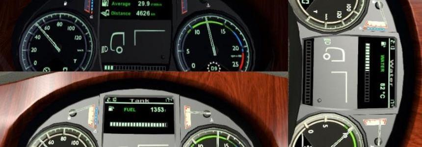 DAF XF Euro 6 Dashboard v1.3