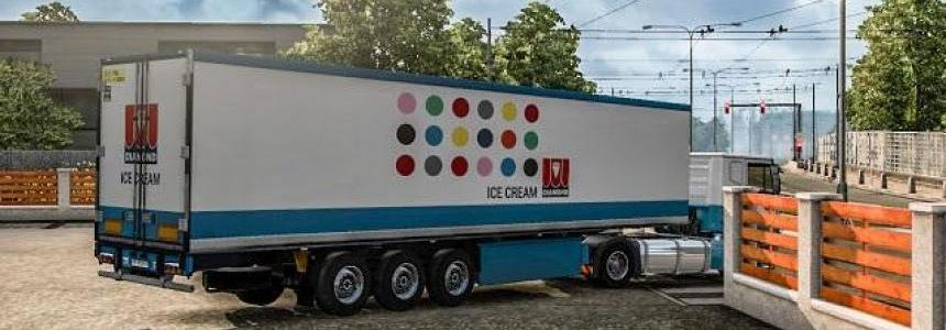 Diamond Ice Cream Trailer Skin