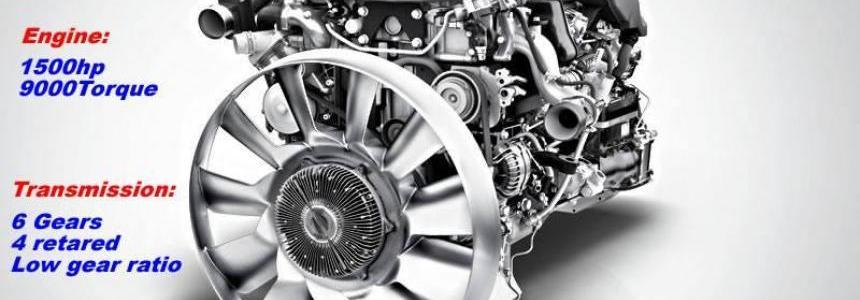 Mercedes Antos 12 1500 hp + 6 gears