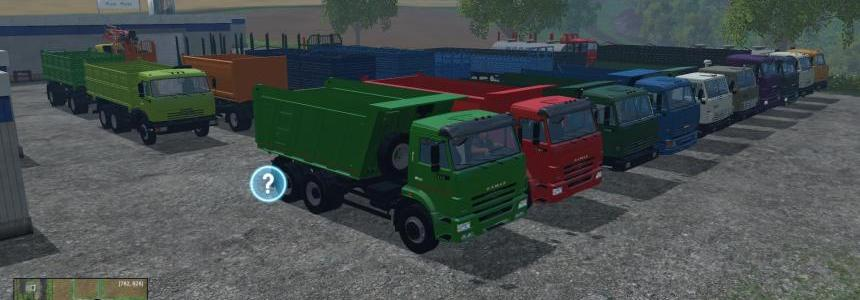 Mods Pack Kamaz + Trailer v2.0