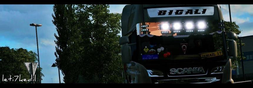 New Scania Chrome Sunshield